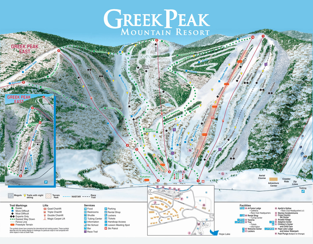 Greek Peak Trail Map & Snow Conditions | Greek Peak Mountain ... on cascade mountains washington map, cascade reservoir map, cascade bike trail, cascade mtns map, driggs idaho snowmobile trails map, heart lake ny trail map, windham mountain trail map, henderson lake ny trail map, algonquin peak ny trail map, cummins creek trail map, bristol mtn map, mount adams ny trail map, cascade mountain adirondacks hiking map, tiger mountain trail map, cascade lake adirondacks trail, cascade mountain wisconsin map, hope falls ny trail map,