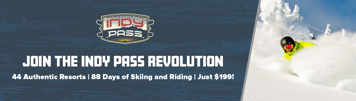 Indy Pass - Join the Revolution | 44 resort, 88 days of skiing and riding for $199
