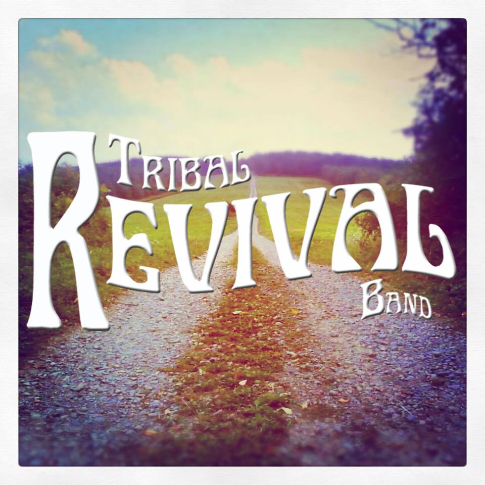 Tribal Revival Live at TRAX - logo with image of trails and woods in background