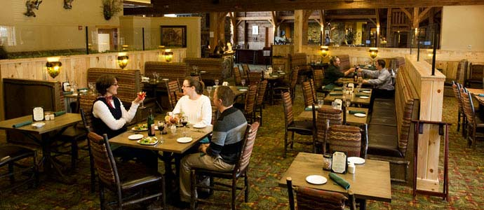 Acorn Grille dining room at Hope Lake Lodge