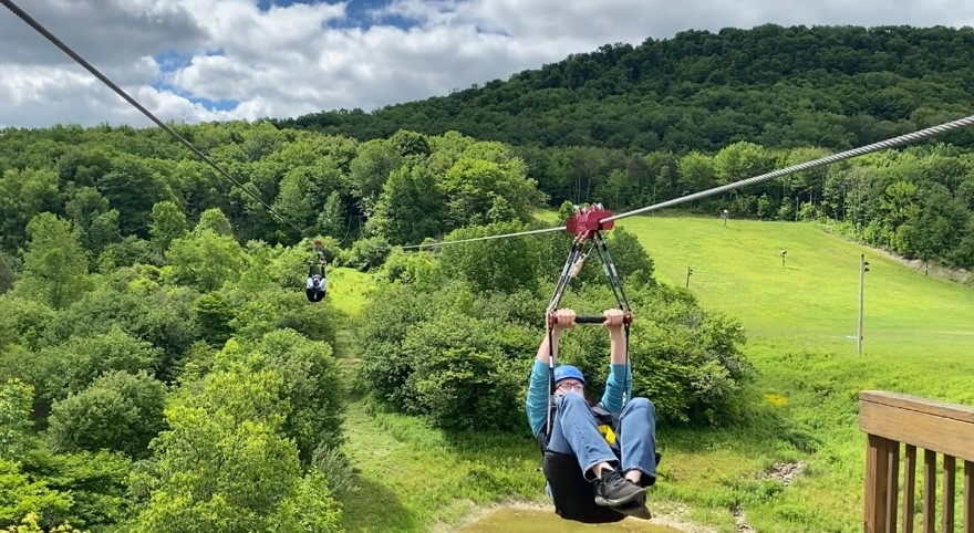 zip lining at greek peak mountain resort