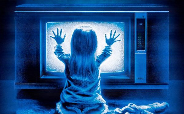 Poltergeist - Little girl in front of TV with eerie blue color
