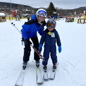 Ski Instructor and small child at Greek Peak