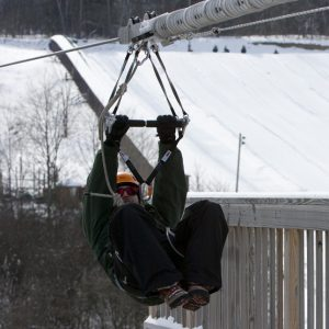 Winter Ziplining at Greek Peak Mountain Resort